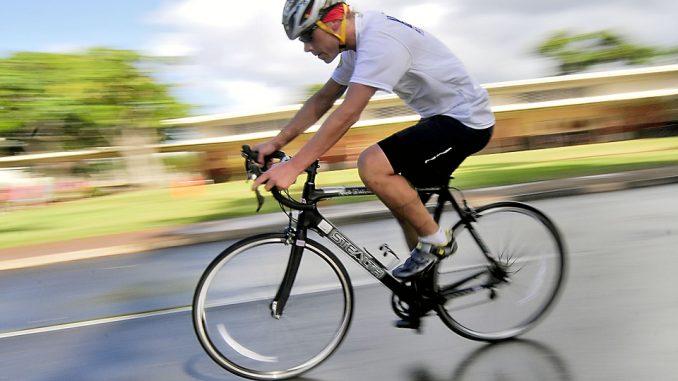 Ciclista a Narni